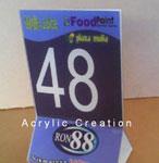 Nomor Meja Acrylic Murah &  Bagus